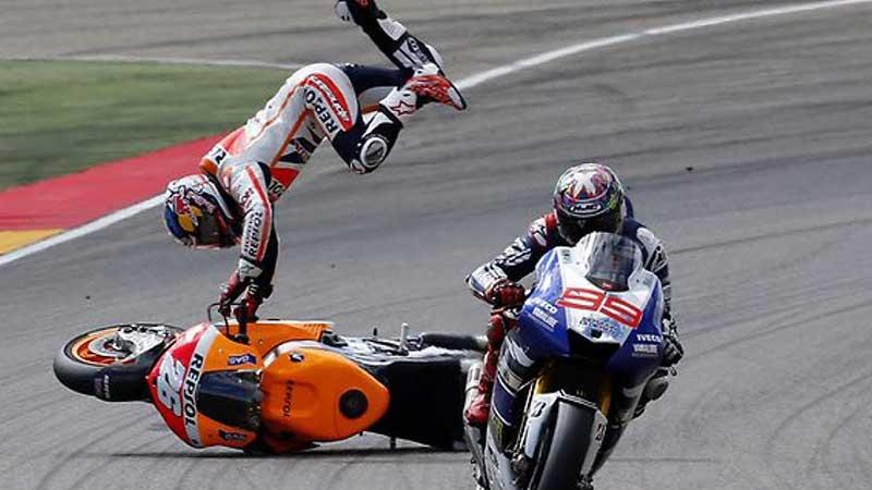 chute en moto